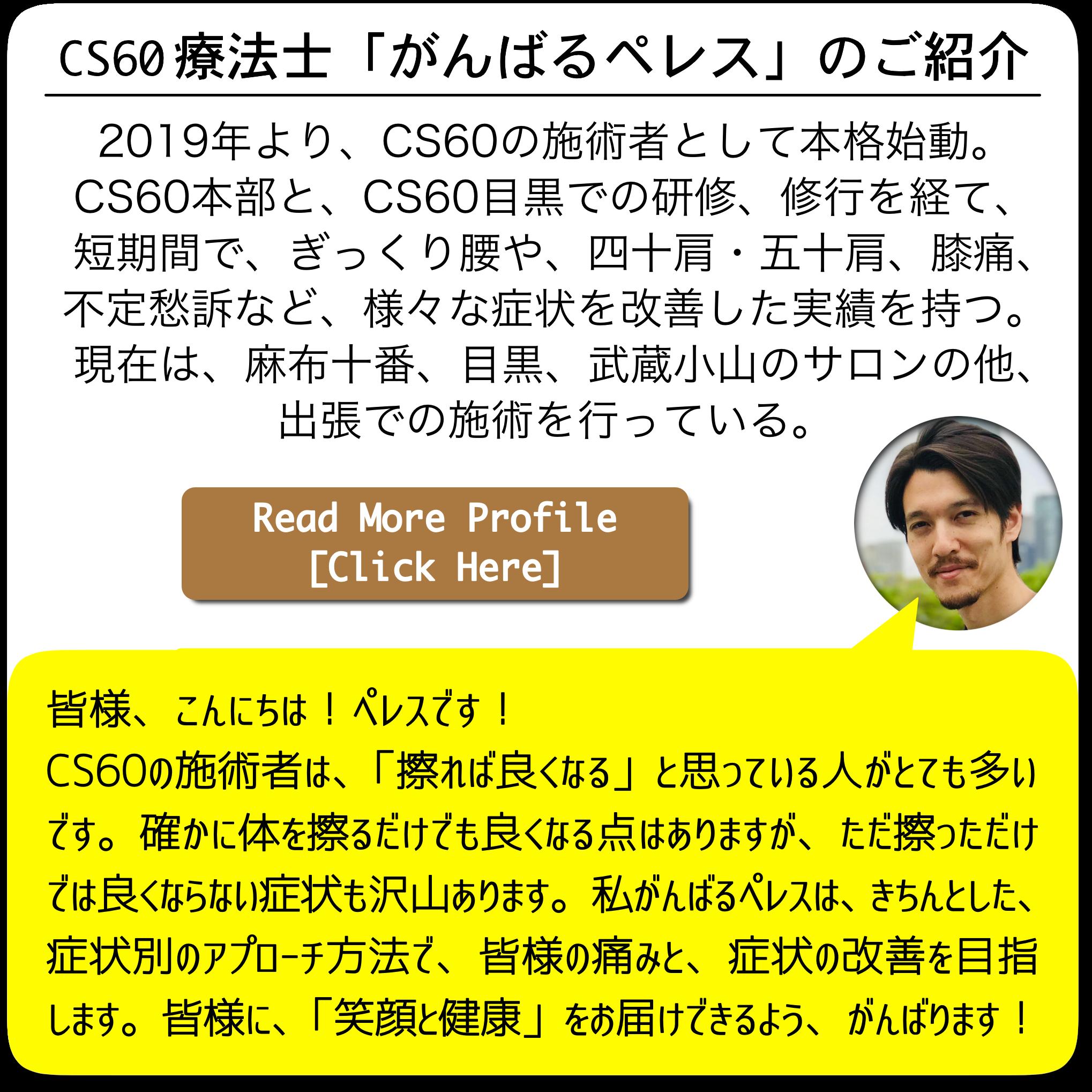 cs60therapy-がんばるペレスのプロフィール